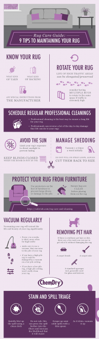 Clean Fresh Rugs in the East Midlands from A&G Chem-Dry - 9 tips to maintaining your rug