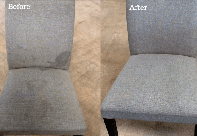 Commercial Upholstery Cleaning Nottingham - Before and After
