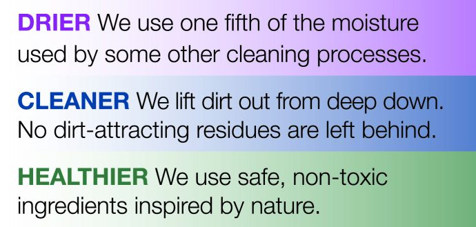 Drier Cleaner Healthier Rug Cleaning