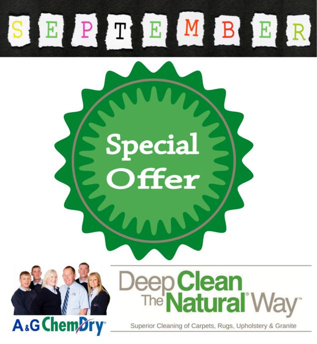 A&G Chem-Dry September Offer 2019
