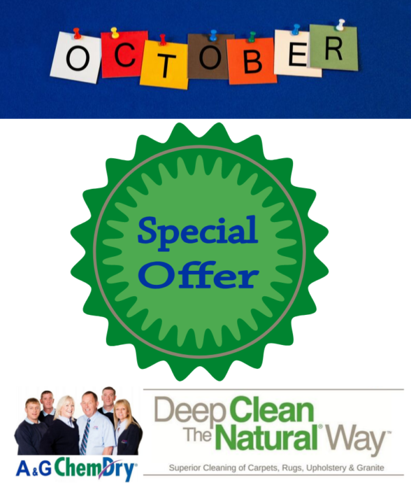 October 3 for 2 Offer - A&G Chem-Dry