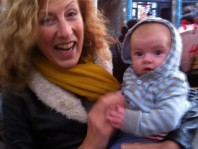 Julie Cowley and baby Grandson Noah