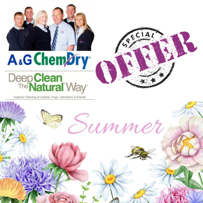 Nottingham Carpet Cleaning - A&G Chem-Dry - Summer Offer - 3 for 2