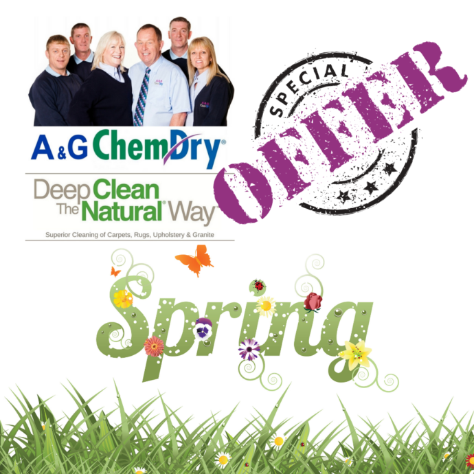 West Bridgford Carpet Cleaning - A&G Chem-Dry - Spring Offer - 3 for 2