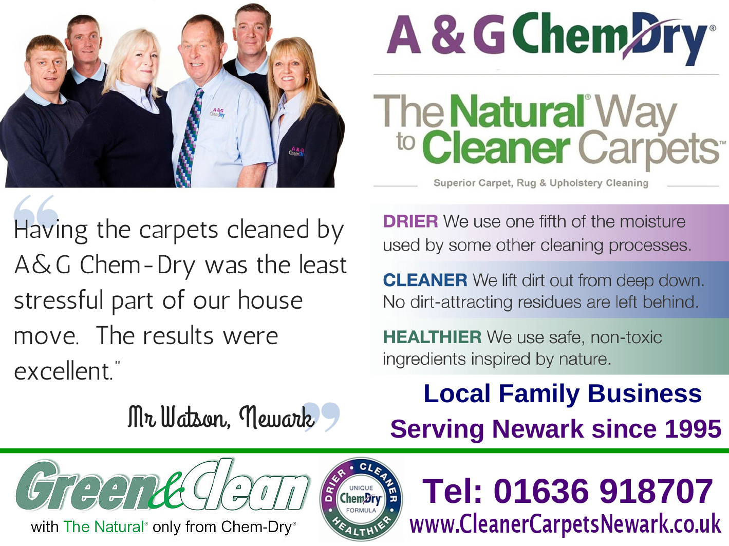 Carpet Cleaners Newark  Choose A&G Chem-Dry for Cleaner Carpets Newark - your Carpet Cleaning Experts