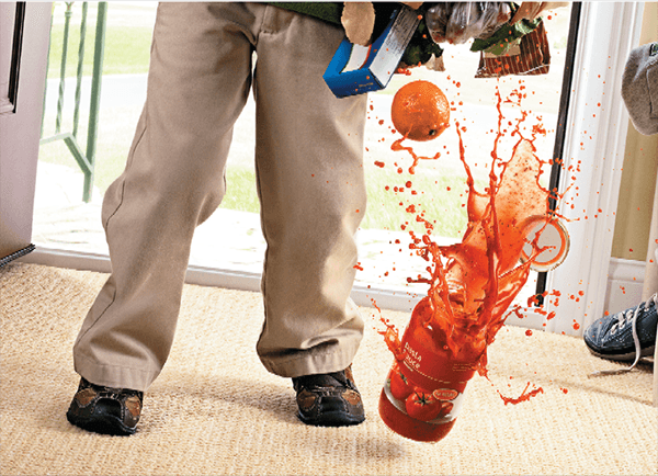 Had a spill? You know the drill!