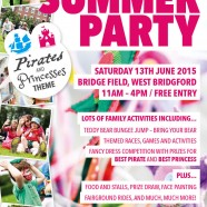 School for Parents Summer Party 2015 Poster