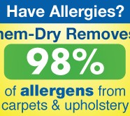 Allergy results - Chem-Dry removes 98% of allergens from carpets & upholstery