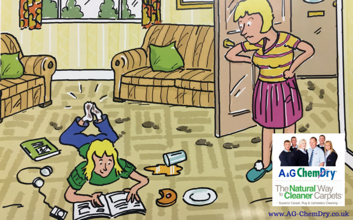 Was it half-term heaven - or havoc in your house? Time to call in A&G Chem-Dry