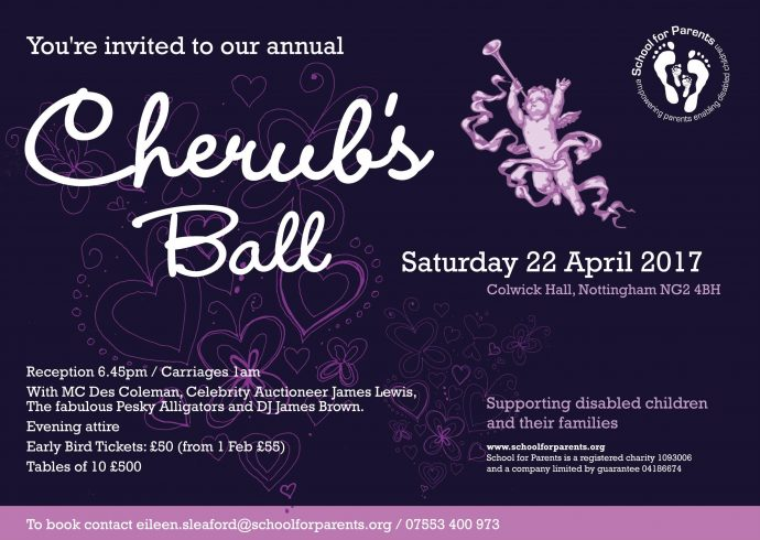 School for Parents Cherub's Ball 2017 Invitation