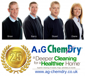 A&G Chem-Dry - Clean my home - Deeper cleaner for a healthier home - celebrating 25 years