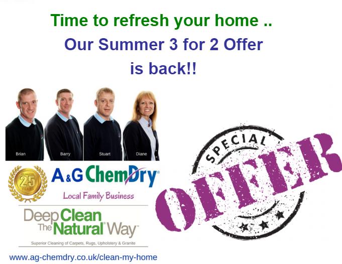 Carpet Cleaning Nottingham - A&G Chem-Dry - Summer Offer